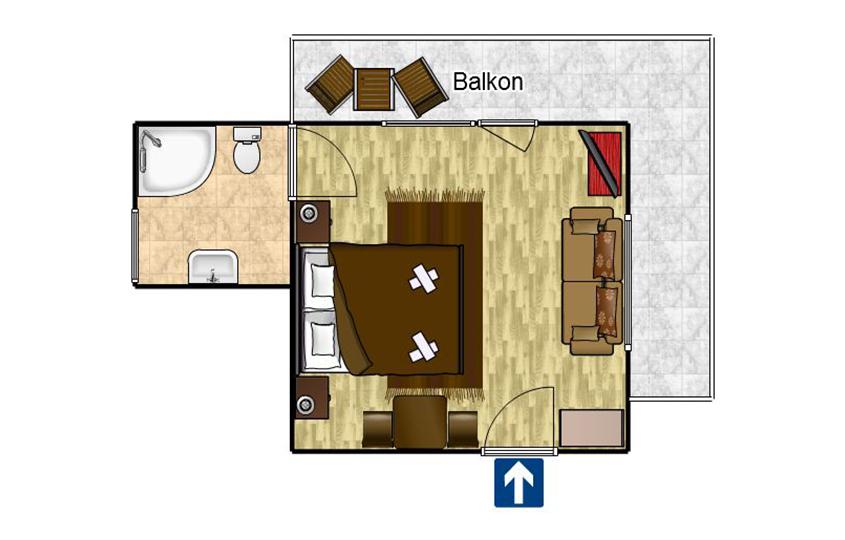 Zweibettzimmer Komfort 9
