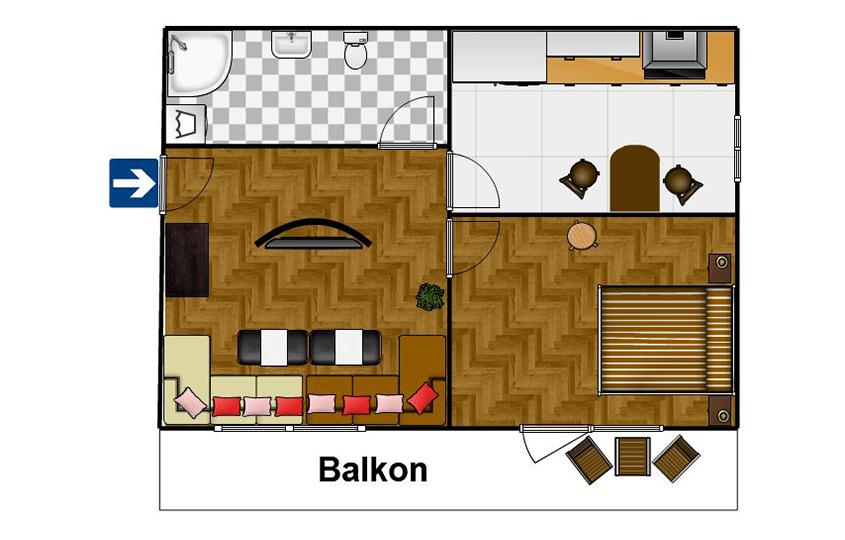 Appartement Krupówki Center 10